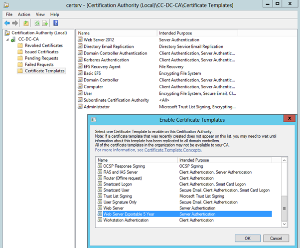 Creating a broadly compatible modern ssl certificate with active creating a broadly compatible modern ssl certificate with active directory certificate services tristan watkins on it infrastructure yadclub Image collections