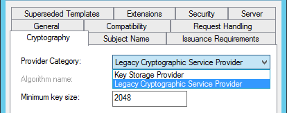 Creating a broadly compatible modern ssl certificate with active as mentioned above were sticking with the duplicated legacy compatibility settings we must use the legacy cryptographic service provider csp for full yadclub Gallery