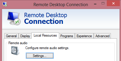 How to enable Lync audio within a Remote Desktop session