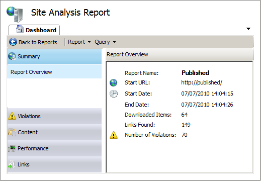 070710 1528 SharePoint26 SharePoint 2010 SEO Analysis with the IIS SEO Toolkit