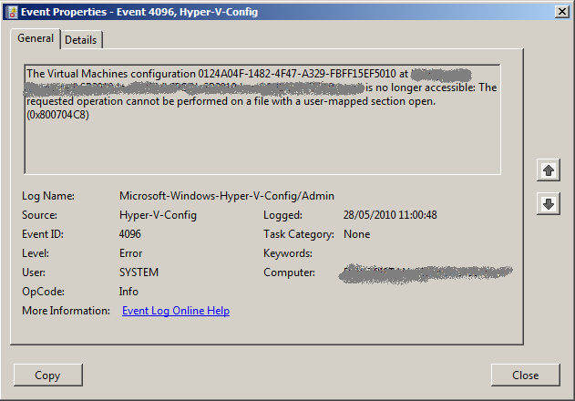 Recovering from Hyper-V Virtual Machine corruption - Tristan