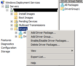 WDS AddDriver1 Adding Drivers to Windows Deployment Services Boot Images